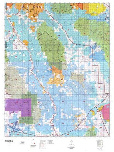 us topo - Arizona GMU 32 Hunt Area / Game Management Units (GMU) Map - Wide World Maps & MORE! - Book - Wide World Maps & MORE! - Wide World Maps & MORE!