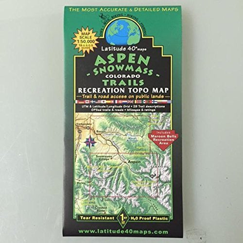us topo - Aspen Snowmass Recreation Topo Map - Wide World Maps & MORE! - Book - Wide World Maps & MORE! - Wide World Maps & MORE!