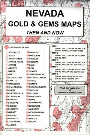 Nevada, Gold & Gems, 5 Map Set Then & Now - Wide World Maps & MORE! - Book - Northwest - Wide World Maps & MORE!