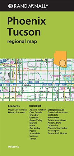 Rand McNally Phoenix/Tuscon Regional Map (Greeen Cover) (Rand Mcnally Regional Map)