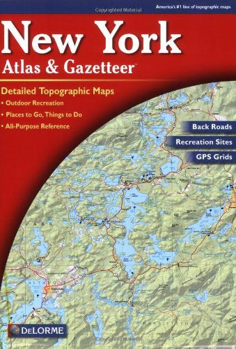 us topo - New York Atlas and Gazetteer - Wide World Maps & MORE! - Book - Delorme - Wide World Maps & MORE!