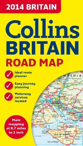 2014 Collins Map of Britain (Collins Road Map) - Wide World Maps & MORE! - Book - Wide World Maps & MORE! - Wide World Maps & MORE!