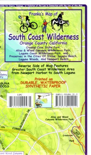 us topo - Franko's Trail Map of the South Coast Wilderness - Wide World Maps & MORE! - Book - FrankosMaps - Wide World Maps & MORE!