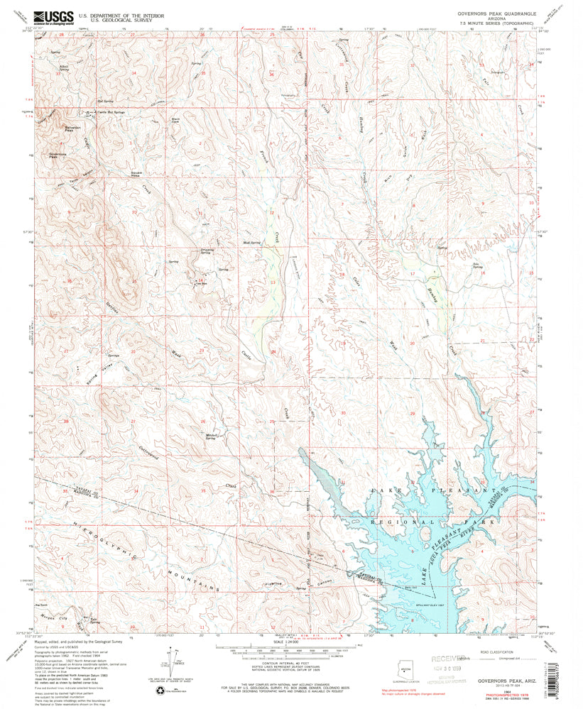 Governors Peak, Arizona (7.5'×7.5' Topographic Quadrangle)