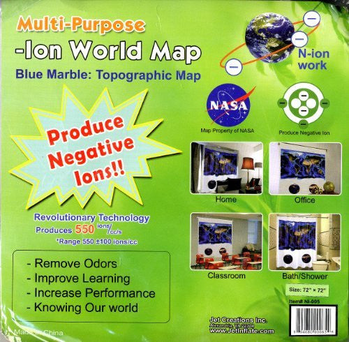 Blue Marble: Topographic Map (Multi-Purpose -Ion World Map) (Multi-Purpose -Ion World Map)