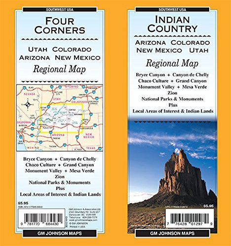 Indian Country / Four Corners (AZ,CO,NM,UT), State Map