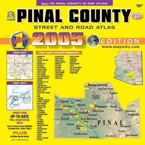 us topo - Pinal County Street And Road Atlas 2005 Edition - Wide World Maps & MORE! - Book - Wide World Maps & MORE! - Wide World Maps & MORE!
