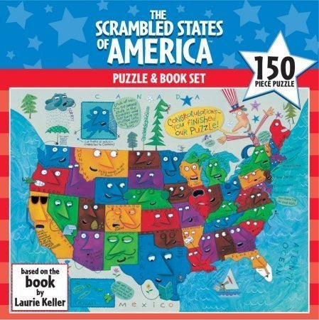 150 Piece Scrambled States of America Puzzle and Book - Wide World Maps & MORE! - Office Product - Ceaco - Wide World Maps & MORE!