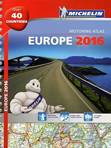 Michelin Europe 2016 Atlas (Michelin Tourist and Motoring Atlas) (French Edition) - Wide World Maps & MORE! - Book - Wide World Maps & MORE! - Wide World Maps & MORE!