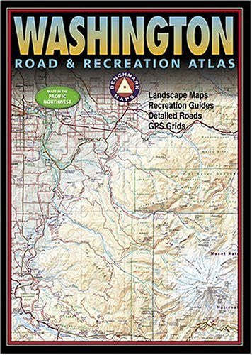 us topo - Washington Road & Recreation Atlas - Wide World Maps & MORE! - Book - Brand: Benchmark Maps - Wide World Maps & MORE!