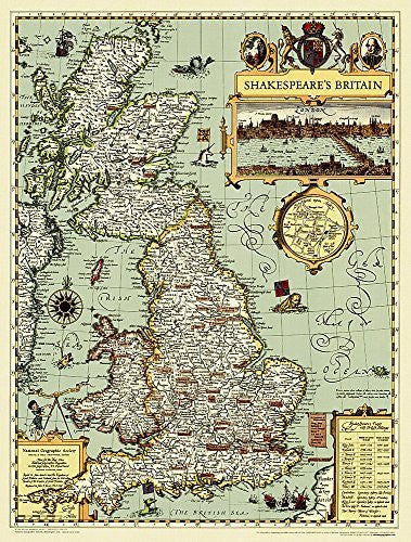 Shakespeare's Britain [Tubed] (National Geographic Reference Map)