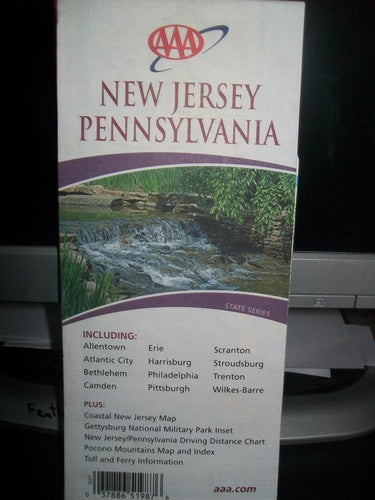 New Jersey, Pennsylvania: Including Allentown, Atlantic City, Bethlehem, Camden ... Plus ... Toll and Ferry Information