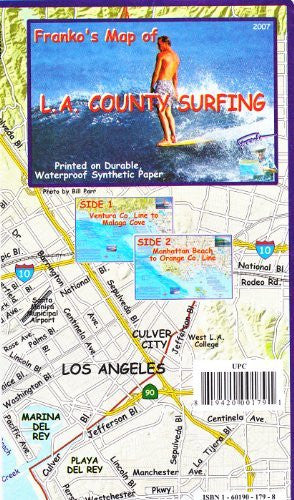 Franko's Map of L. A. County Surfing - Wide World Maps & MORE! - Map - Frankos Maps - Wide World Maps & MORE!