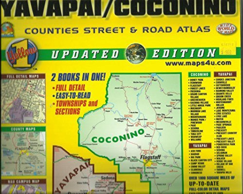 Yavapai/Coconino Counties Street & Road Atlas