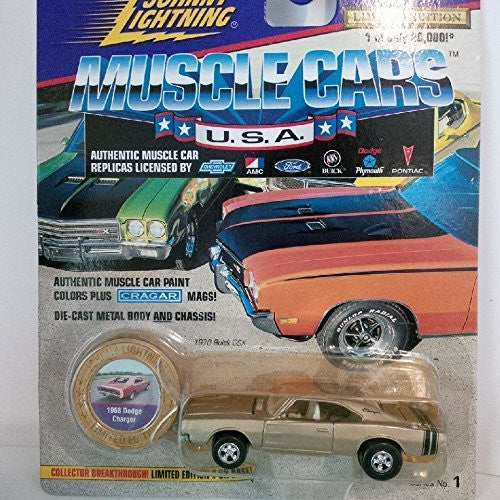 1970 Buick GSX Muscle Car Limited Edition (Grey) - Wide World Maps & MORE! - Toy - Johnny Lightning - Wide World Maps & MORE!