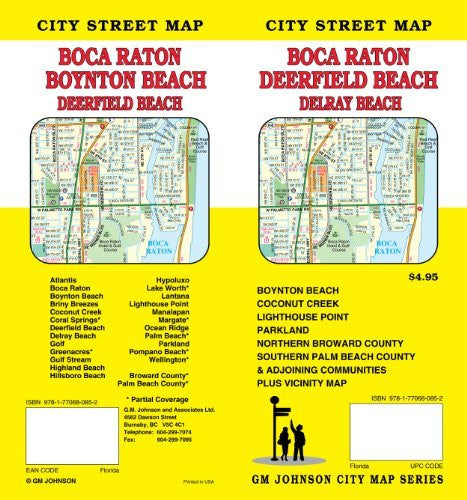 Boca/Raton, FL City Street Map