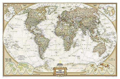 us topo - World Executive [Laminated] (National Geographic Reference Map) - Wide World Maps & MORE! - Book - National Geographic Maps - Wide World Maps & MORE!