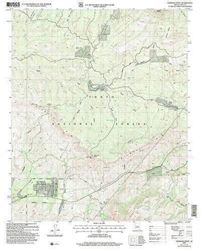 us topo - Diamond Point, Arizona 7.5' - Wide World Maps & MORE! - Map - Wide World Maps & MORE! - Wide World Maps & MORE!