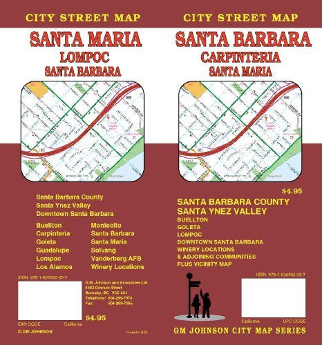 us topo - Santa Barbara/Carpinteria/Santa Maria City Street Map - Wide World Maps & MORE! - Book - Wide World Maps & MORE! - Wide World Maps & MORE!