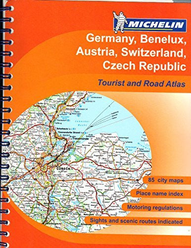 Germany/Benelux/Austria/Switzerland/Czech Republic Tourist and Motoring Atlas