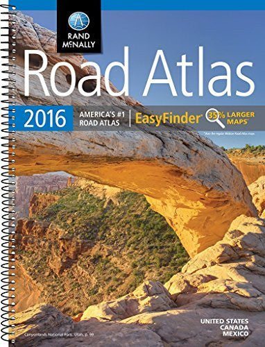us topo - Rand McNally 2016 EasyFinder® Midsize Road Atlas (Rand Mcnally Road Atlas Midsize Easy to Read) - Wide World Maps & MORE! - Book - Wide World Maps & MORE! - Wide World Maps & MORE!
