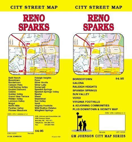 Reno and Sparks, NV Street map