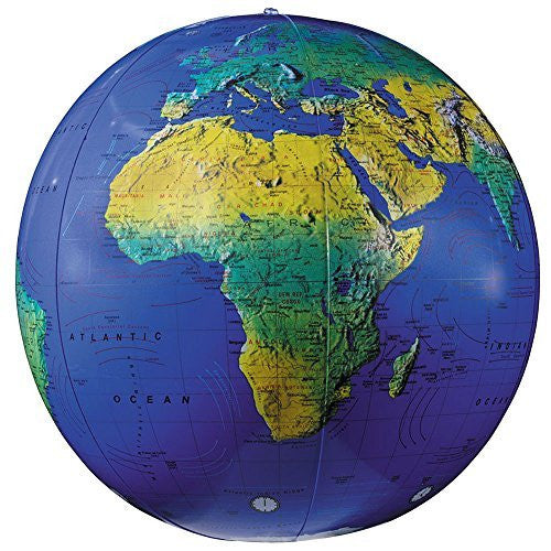 Replogle Inflatable Topographical Globe, 12 in.