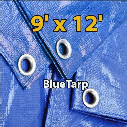us topo - 9' X 12' Blue Waterproof Poly Tarp 9x12 Tarpaulin for Camping Hiking Backpacking Tent Shelter Shade Canopy Etc. - Wide World Maps & MORE! - Home Improvement - Super Tarp - Wide World Maps & MORE!