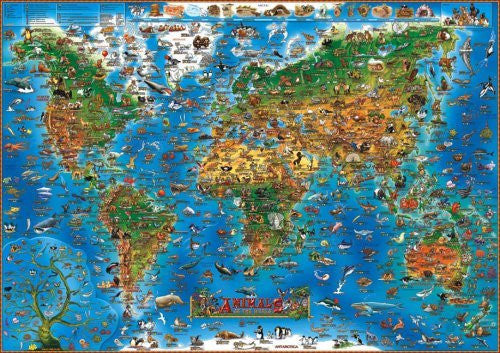 Children's Animals of the World Wall Map (Childrens Maps)
