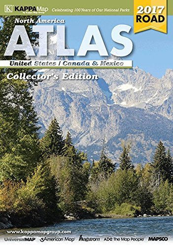 us topo - 2017 North American Deluxe Road Atlas - Wide World Maps & MORE! - Furniture - Universal Map - Wide World Maps & MORE!