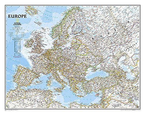 us topo - Europe Classic [Tubed] (National Geographic Reference Map) - Wide World Maps & MORE! - Book - Wide World Maps & MORE! - Wide World Maps & MORE!