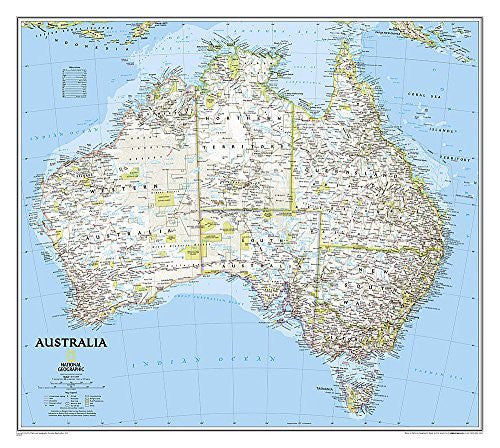 us topo - Australia Classic [Tubed] (National Geographic Reference Map) - Wide World Maps & MORE! - Book - National Geographic - Wide World Maps & MORE!