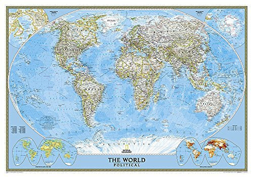 Latest World Map.World Classic Political Standard Wall Map Dry Erase Laminated