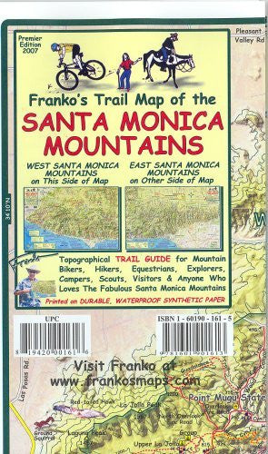 us topo - Franko's Trail Map of the Santa Monica Mountains - Wide World Maps & MORE! - Book - FrankosMaps - Wide World Maps & MORE!
