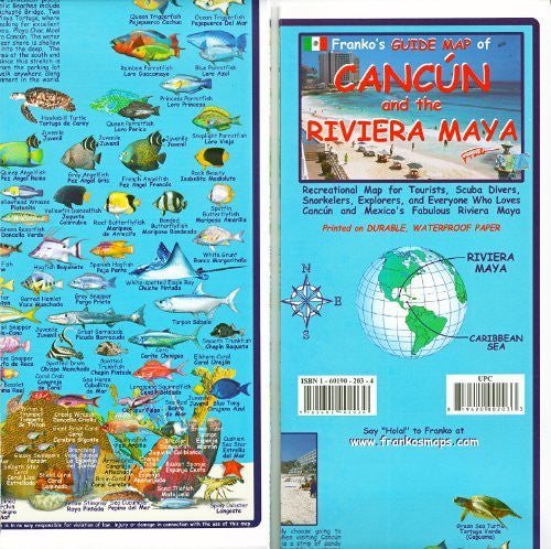 Franko's Guide Map of Cancun and the Riviera Maya (English and Spanish Edition)