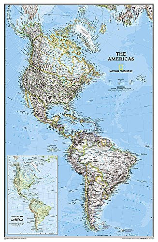 The Americas - North & South America Political Map Laminated
