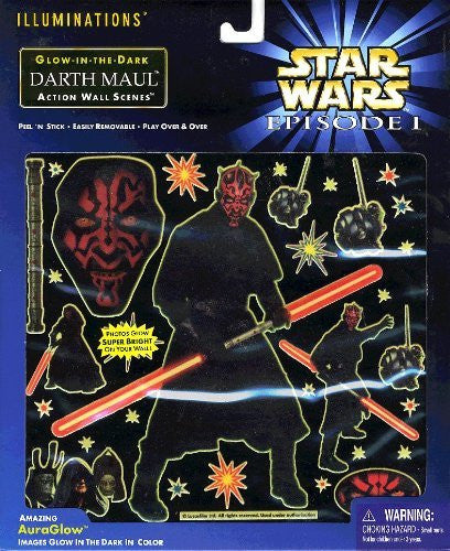 Star Wars Episode 1 Illuminations Glow-in-the-dark Darth Maul Action Wall Scene