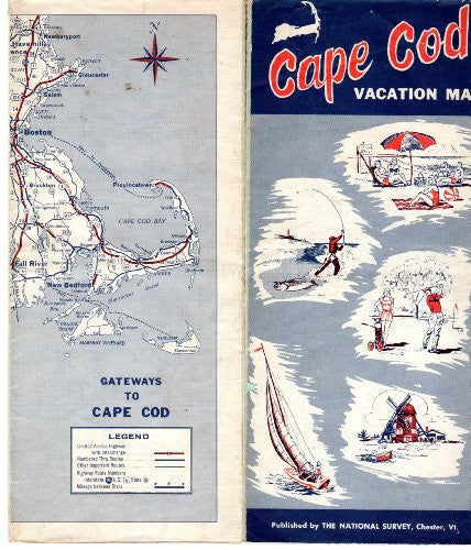 Cape Cod Vacation Map, 1961