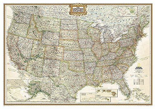 us topo - United States Executive [Laminated] (National Geographic Reference Map) - Wide World Maps & MORE! - Book - National Geographic Maps - Wide World Maps & MORE!