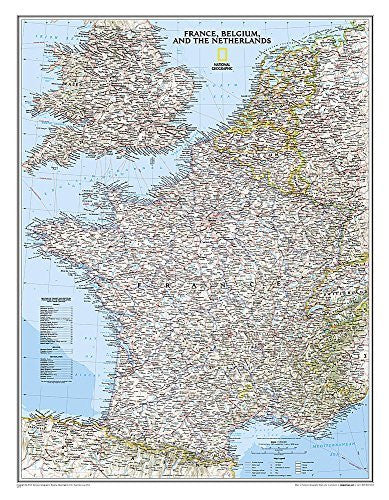 us topo - France, Belgium, and The Netherlands Classic [Laminated] (National Geographic Reference Map) - Wide World Maps & MORE! - Book - National Geographic Maps - Wide World Maps & MORE!