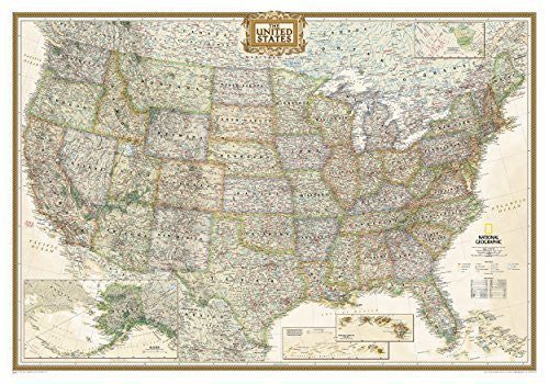 By National Geographic Maps - Reference United States Executive [Tubed] (National Geographic Reference Map) (2012) [Map]