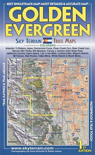 Golden & Evergreen Trail Map 1st Edition