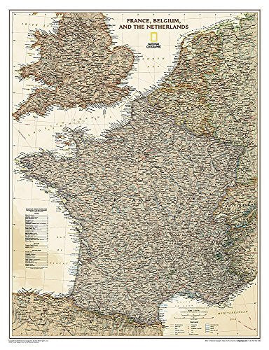 us topo - France, Belgium, and The Netherlands Executive [Tubed] (National Geographic Reference Map) - Wide World Maps & MORE! - Book - Wide World Maps & MORE! - Wide World Maps & MORE!