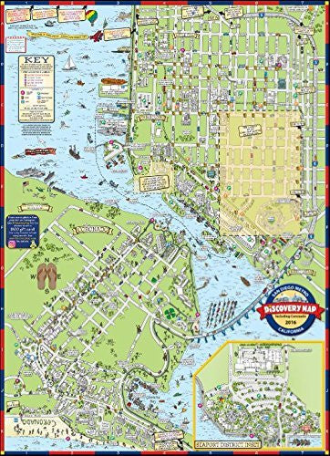 San Diego Metro Discovery Map Including Coronado Gloss Laminated