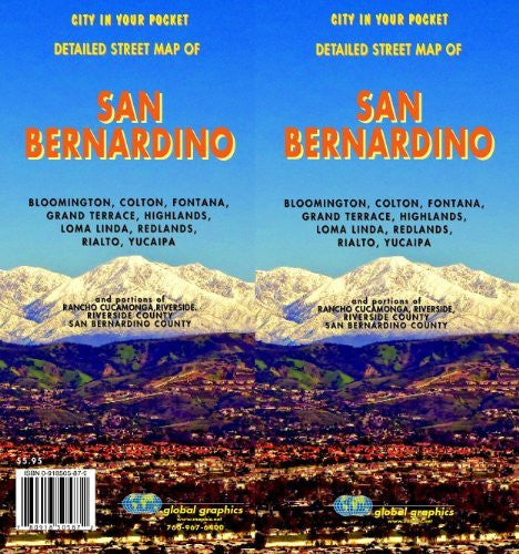 San Bernardino City Map, California