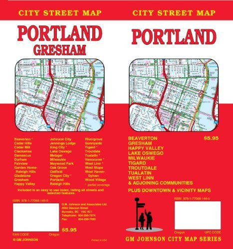 Portland, OR City Street Map