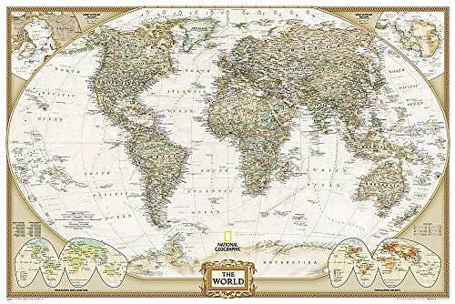 World Executive [Poster Size and Laminated] (National Geographic Reference Map)