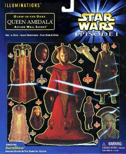 Star Wars Episode 1 Glow-in-the-dark Queen Amidala Action Wall Scenes