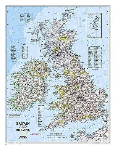 Britain and Ireland Wall Map (tubed) British Isles - Wide World Maps & MORE! - Book - National Geographic - Wide World Maps & MORE!