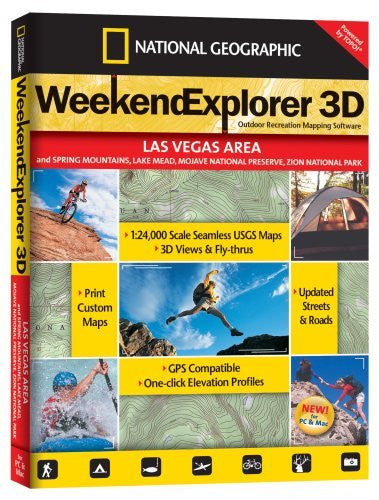 TOPO! Weekend Explorer 3D Outdoor Recreation Mapping Software (Las Vegas Area)